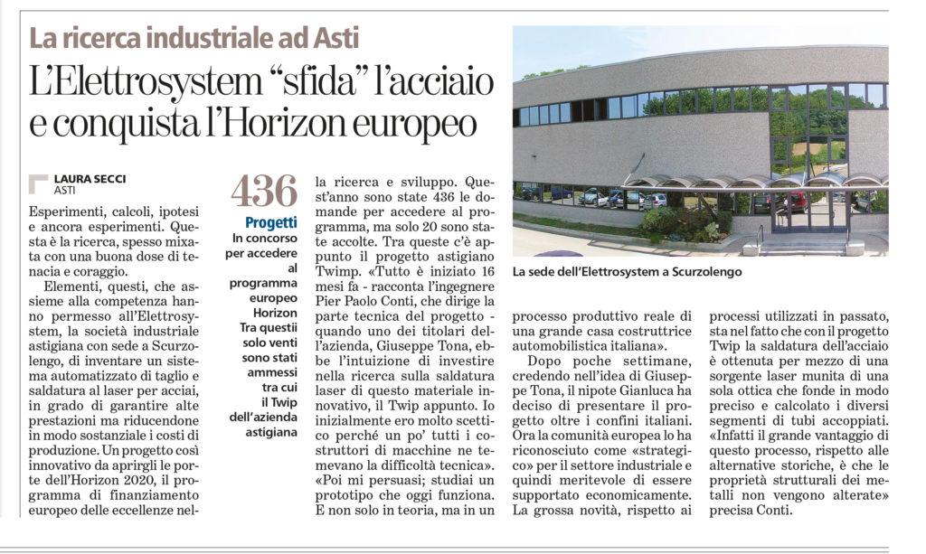 Horizon 2020 La-Stampa-economia-Regionale